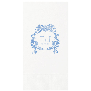 Hand drawn Floral Crown Guest Towel