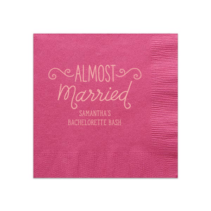 Almost Married Bash Napkin
