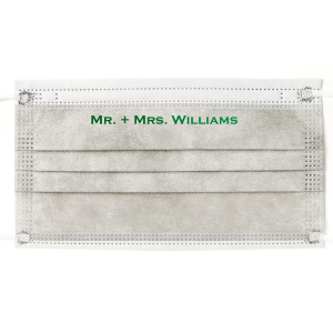 Mr. + Mrs. Wedding Face Masks