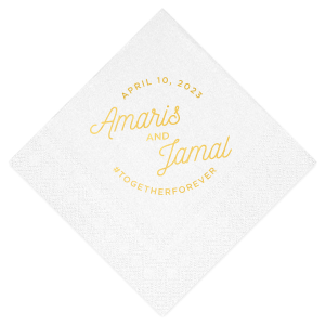 CHRISTMAS CANDLES LOGO 50 Personalized printed cocktail beverage napkins