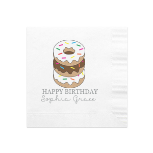 Donut Birthday Photo/Full Color Napkin