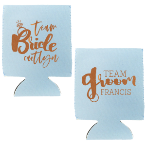 Team Bride Team Groom Can Cooler