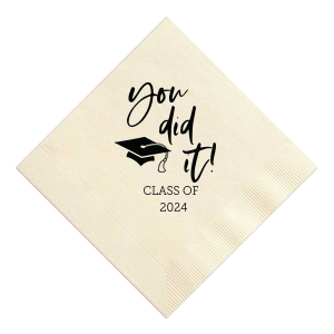 You Did It! Grad Cap Napkin