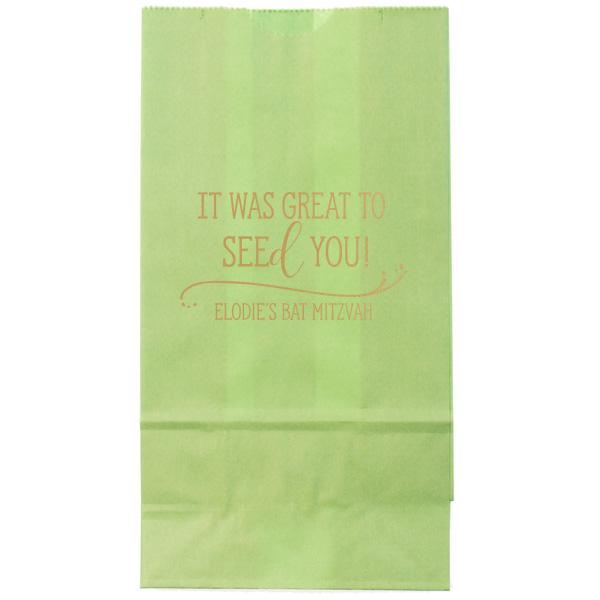 """Custom Goodie Bags / 4.25 x 8"""" / Seed Favor Bag"""