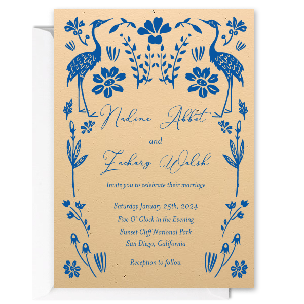 Custom Foil Stamped Invitations / 10 Count / 5