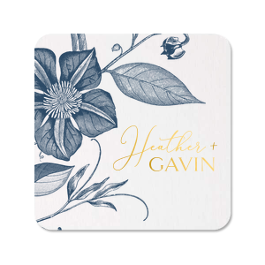Script And Modern Names Full Color + Foil Coaster