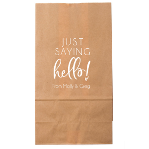 Just Saying Hello Bag