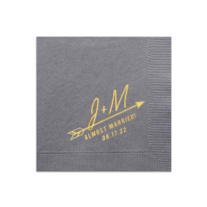 Almost Married Arrow Napkin