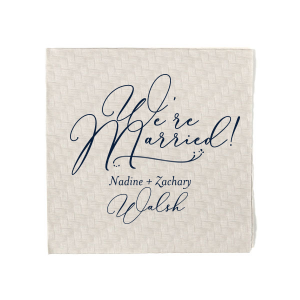 We're Married Bold Script Napkin