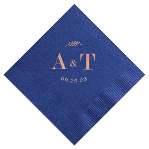 Contemporary Leaf Monogram Napkin