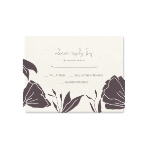 Linear Floral One Color RSVP Card