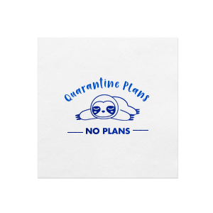 Quarantine Plans Sloth Napkin