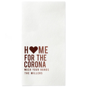 Home For The Corona Guest Hand Towel