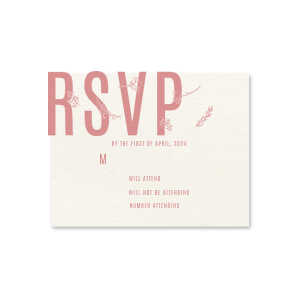 Bold Wildflower RSVP Card