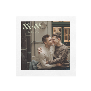 Mr + Mr Photo/Full Color Napkin