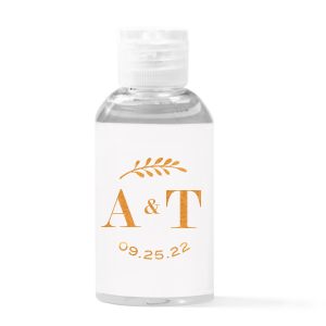 Contemporary Leaf Hand Sanitizer Favor