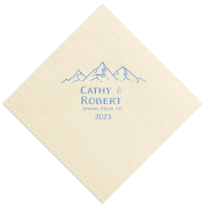 I Love You to The Mountains Napkin