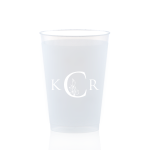 Leafy Monogram Frost Flex Cup