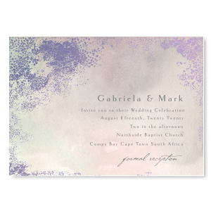 Lavender Waves Wedding Invitation