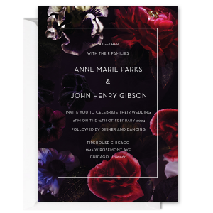 Baroque Floral Wedding Invitation