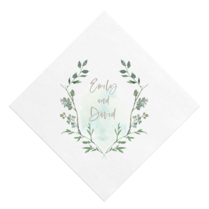 Leaf Crest Photo/Full Color Napkin