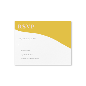 Marry Gold RSVP Card