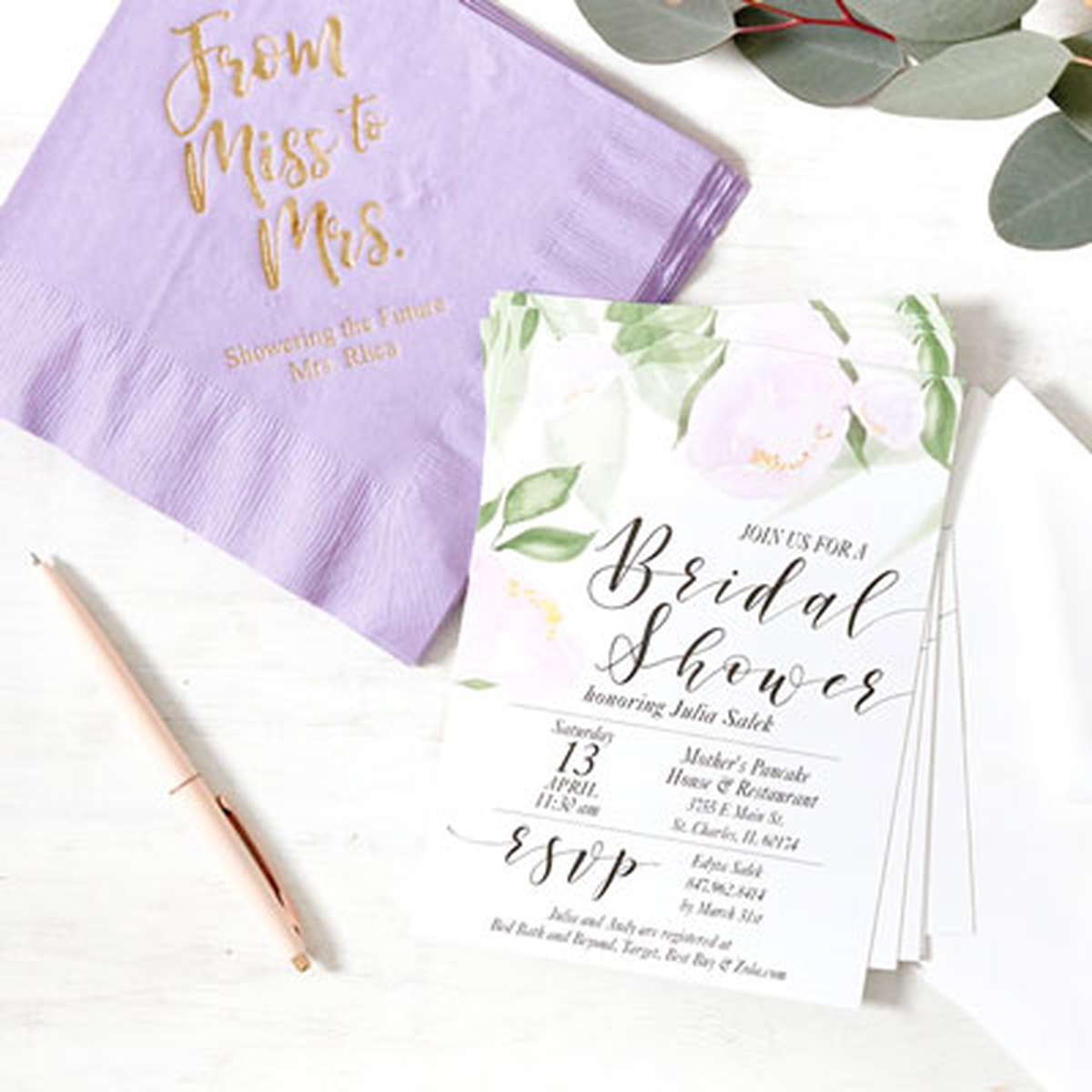 e9658afa64b7c Bridal Shower Napkins, Matches, Cups and Favors | For Your Party