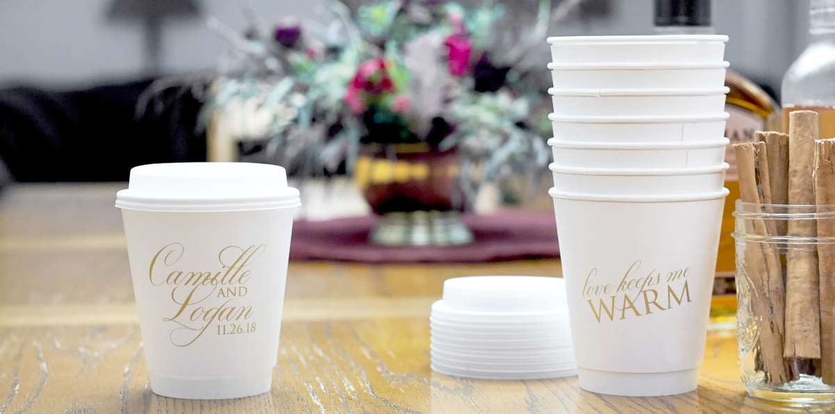 Shop paper cups for your wedding, party or event